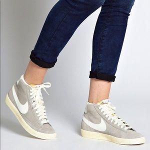 Nike suede grey blazers